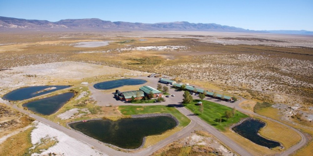Aerial photograph of the hot springs. – Curtis Rose