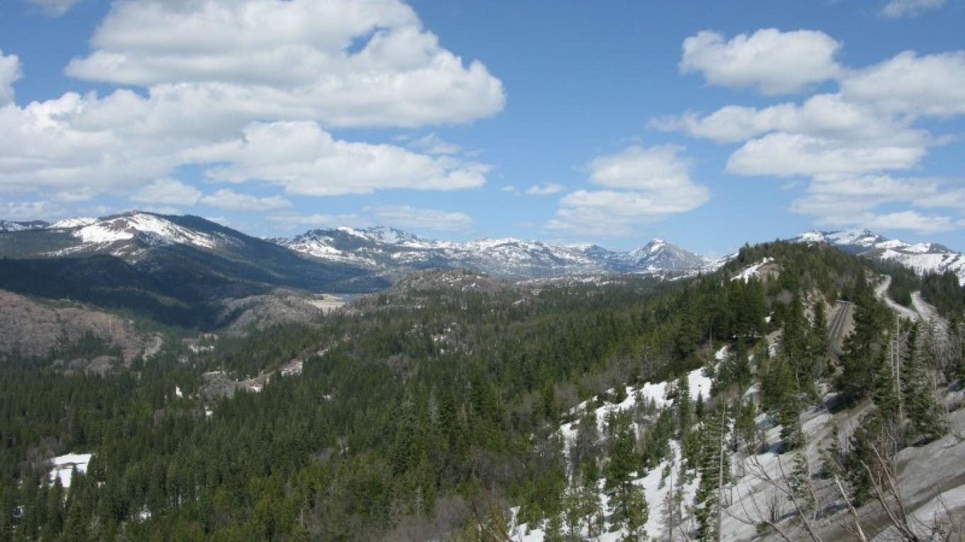 Sierra Nevada Crest and Emigrant Gap, view from I-80 – Linda Chaplin