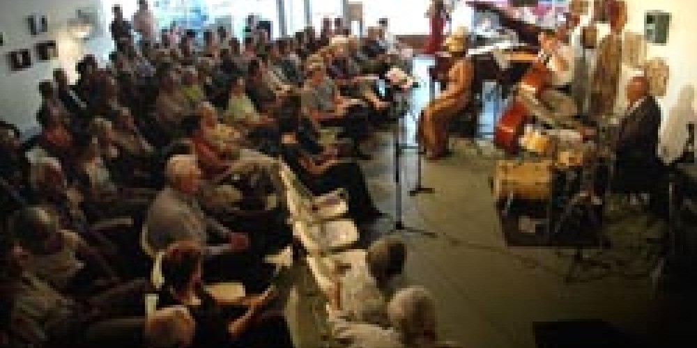 The Arts Building becomes an intimate entertainment venue for Jazz at 808. – John F. Johnson