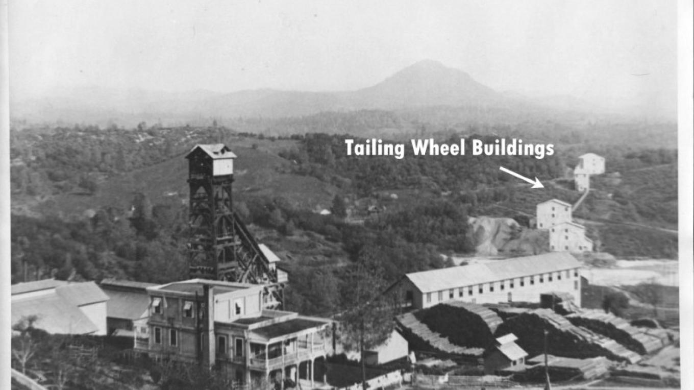 Kennedy Mine with Tailing Wheel Sheds off to the right