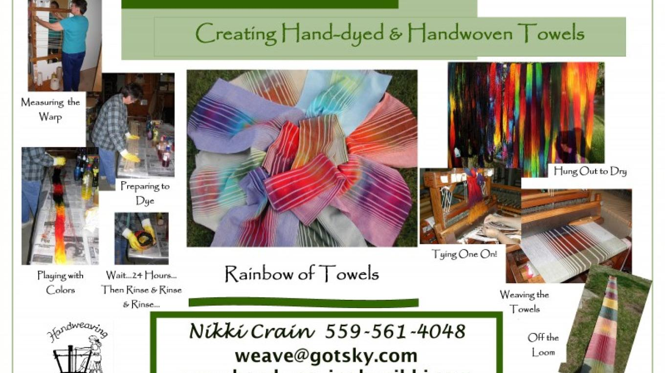 Creating Hand Dyed Towels – Nikki Crain