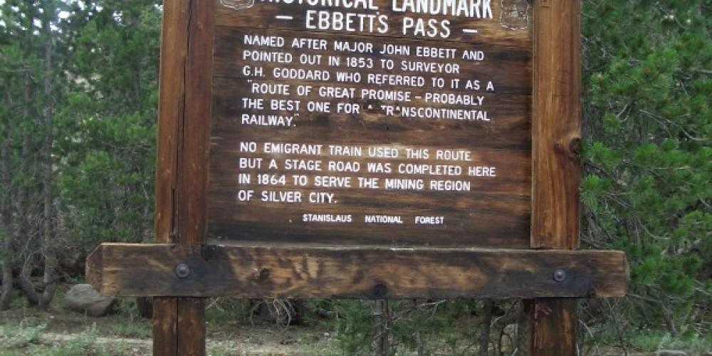 Ebbetts Pass Marker