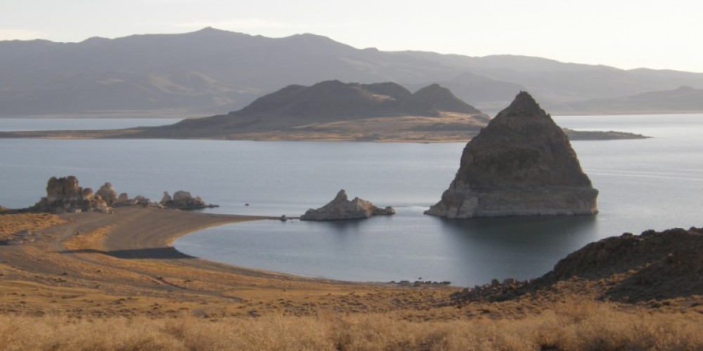 Scenic View of the Pyramid and Anaho Island in November of 2009. – Scott H. Carey