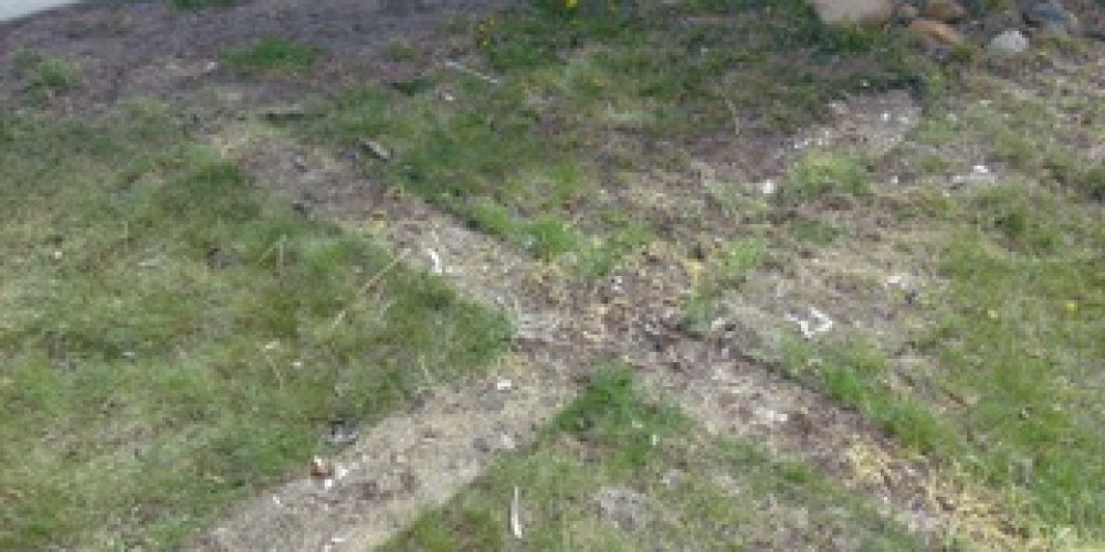 Ground image of the fallen cross – © 2010 Truckee Donner Historical Society All Rights Reserved