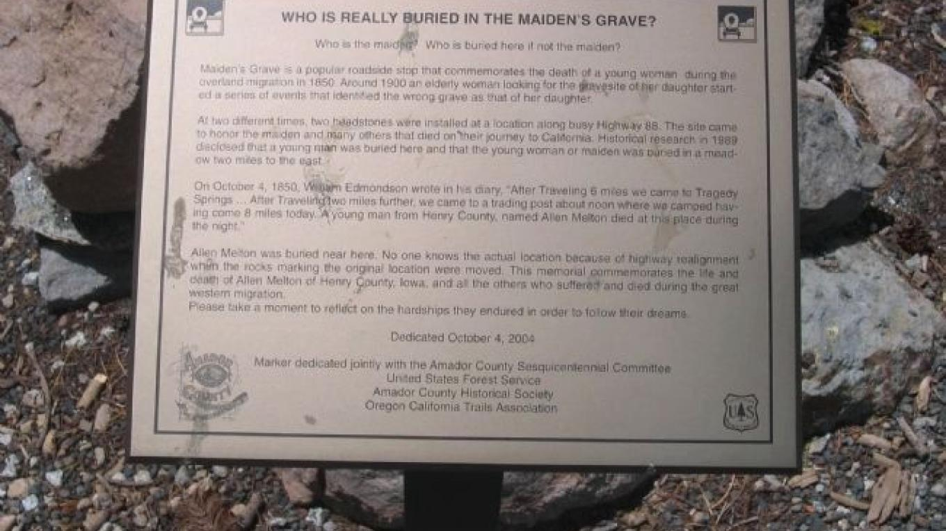 Who is in the Maiden's Grave? – Hmdb.org