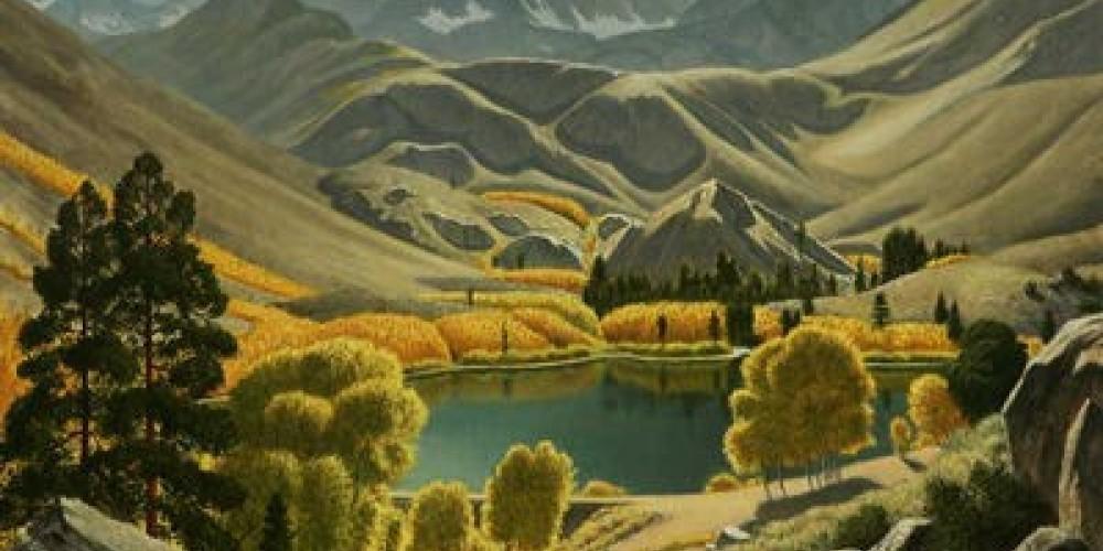 Intake Two, Bishop Creek, 30x36 oil/canvas – Wynne Benti, Coons Gallery