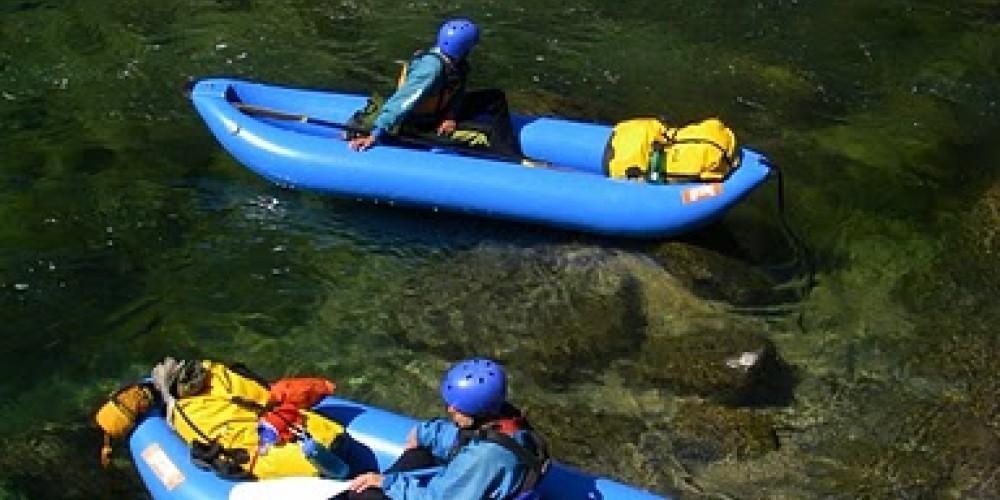 A flotilla of inflatable kayaks (IKs) – Sierra South