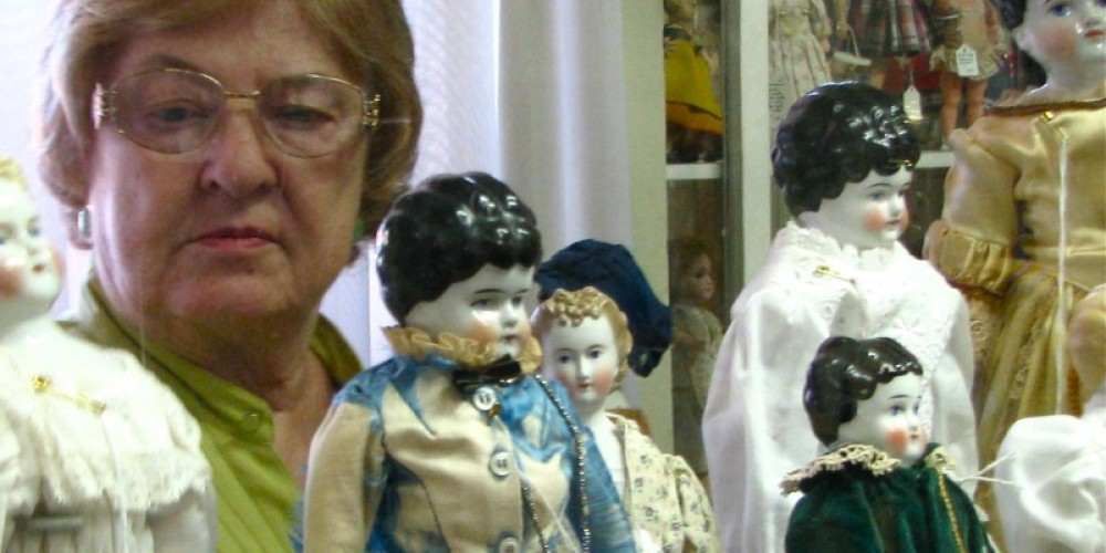 Owner and shop keeper, Kay Jensen is an international doll and travels doll shows in North America. She is open weekends or by appointment. – Karrie Lindsay