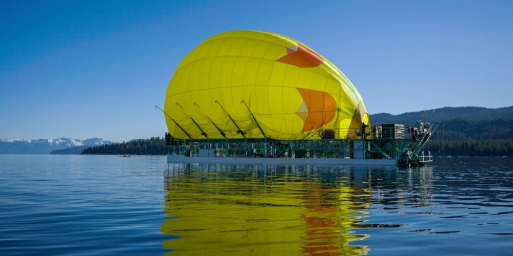 Witness the hot air balloon inflation process. – Lake Tahoe Balloons