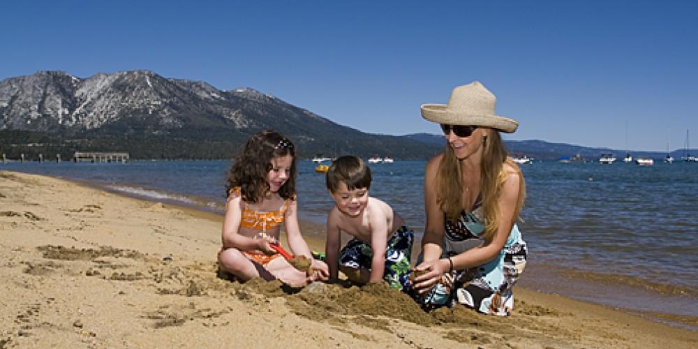 Family fun on the beach – Camp richardson Resort