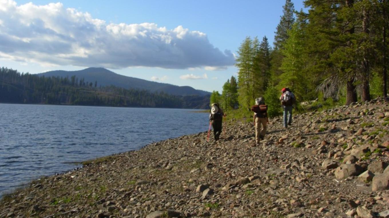 Backpackers at Snag Lake – NPS Photo