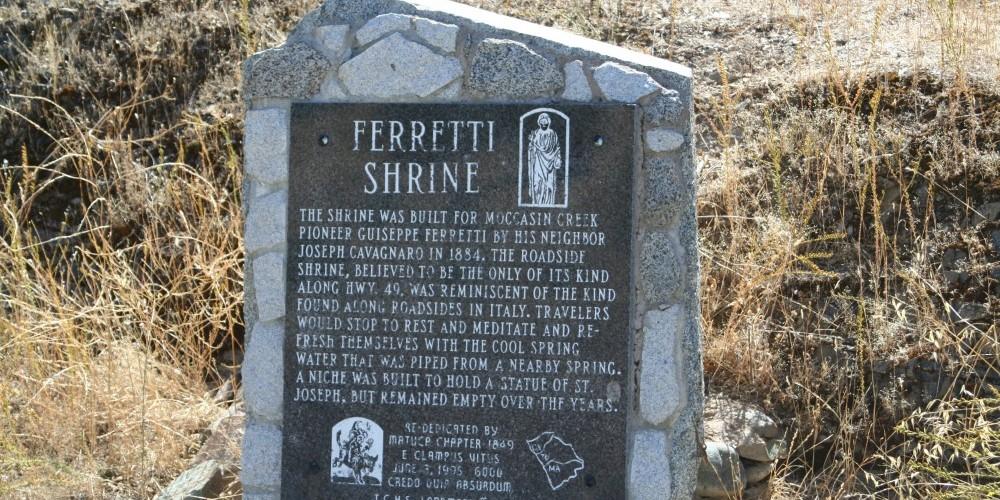 Ferretti Shrine monument. – Carol Russell
