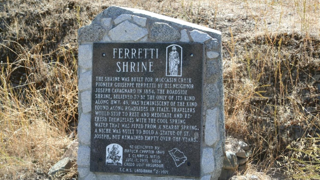 Ferretti Shrine monument. – Carol Russell