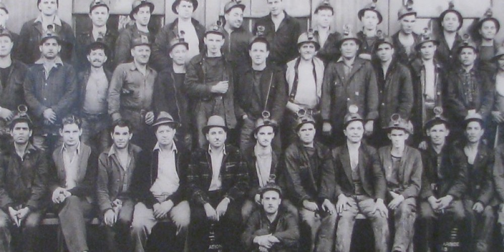 Mining was dangerous and hard, but the steady work and pay attracted many men, both young and old to the gold fields. Here is a later photograph of one mining shift. – Karrie Lindsay