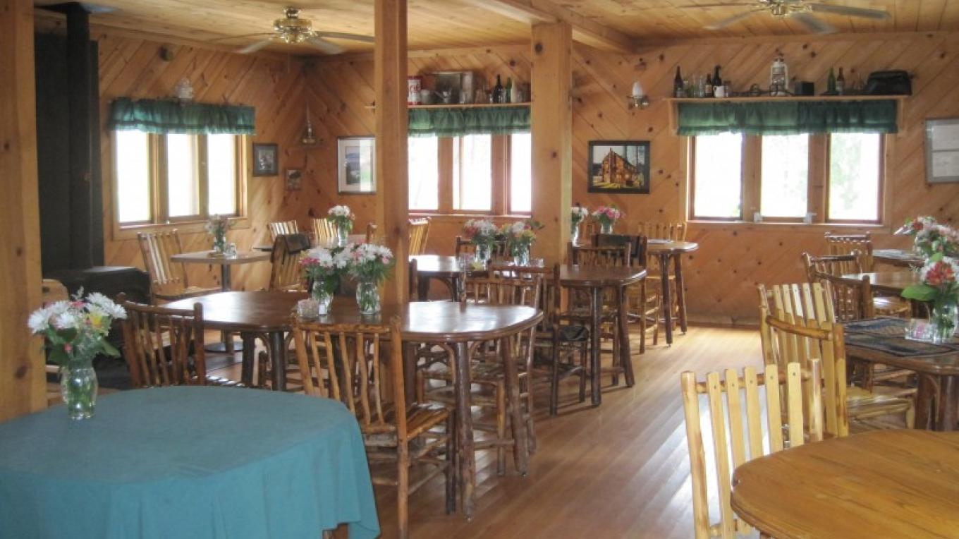 The dining room at Drakesbad Guest Ranch. – NPS