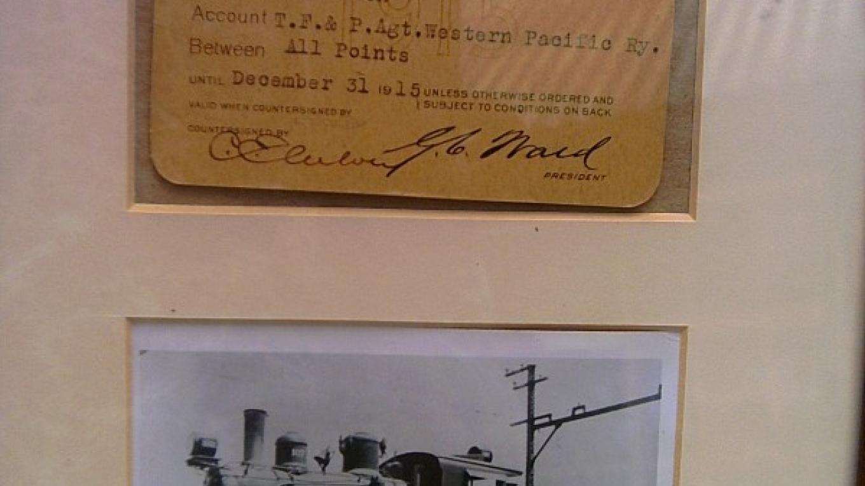 Original SJ&E Pass and photo