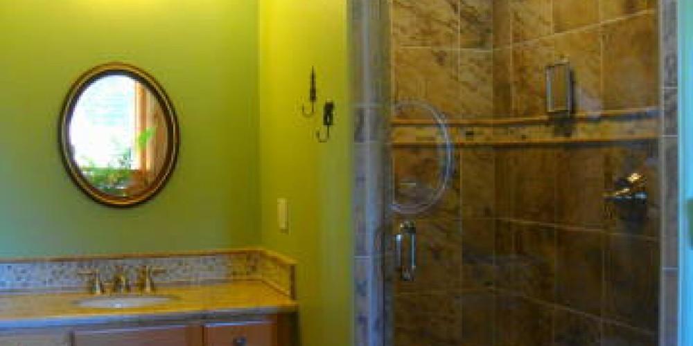 Shower and 1 vanity main house main floor master bedroom – CK Martin
