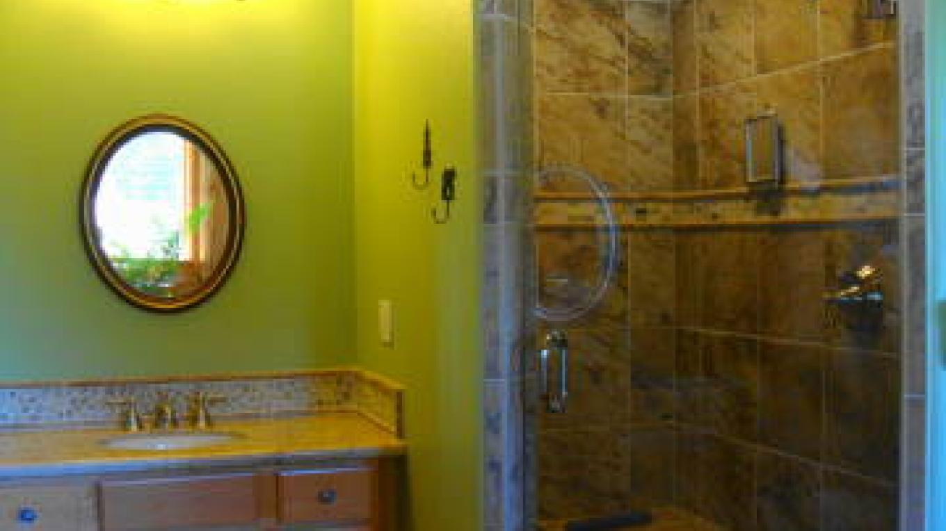Shower and 1 vanity main house main floor master bedroom – CK Martin