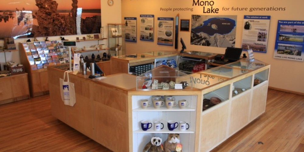 Friendly staff at the counter have information about Mono Lake, as well as local lodging, dining, businesses, and road conditions. – Arya Degenhardt