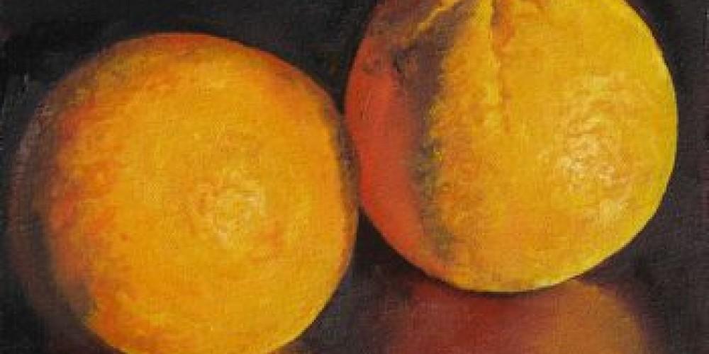 Oranges, oil painting
