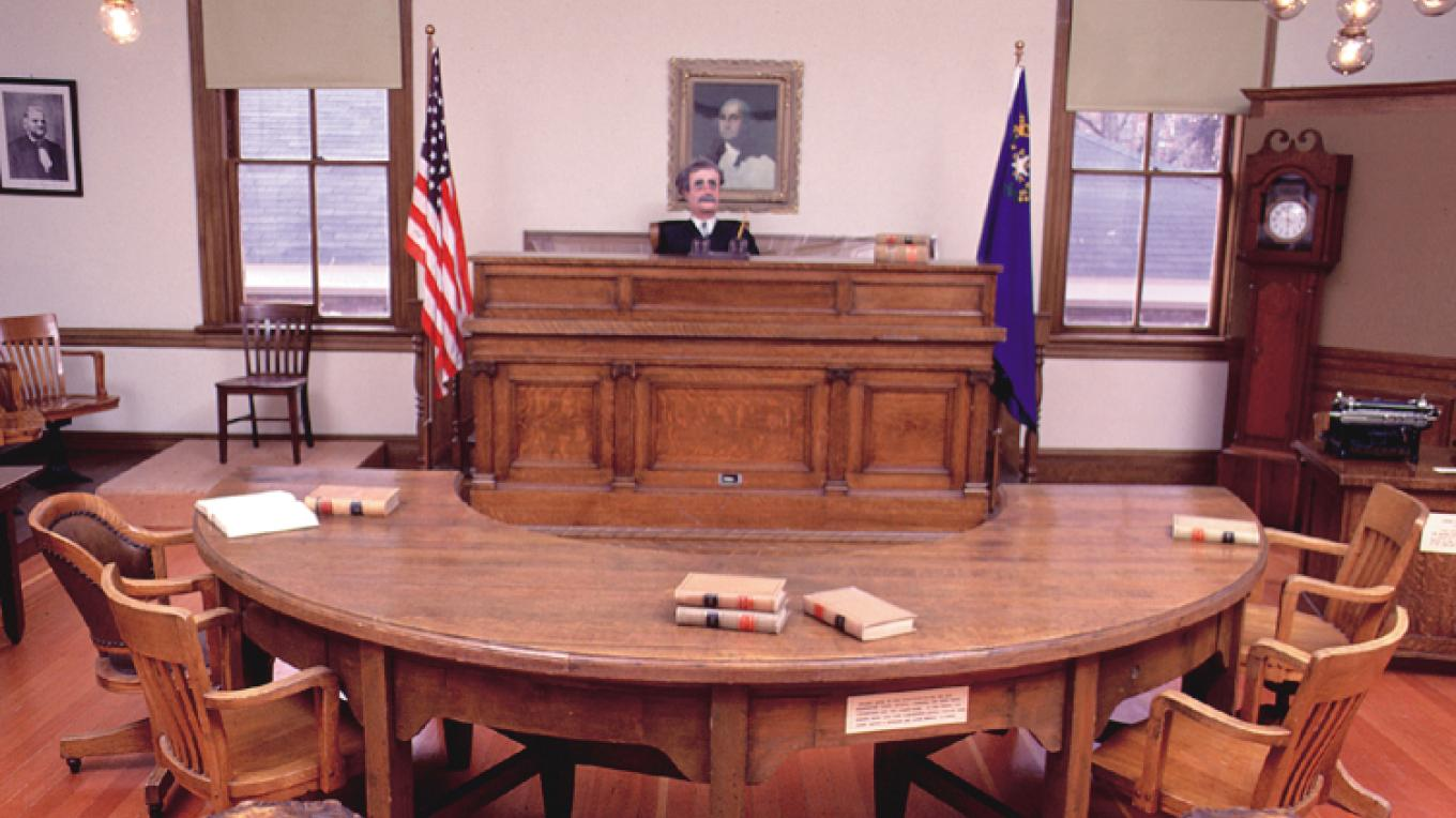 During the 1800's  most of the Carson River water litigations as well as murder trials, divorces, property settlements, probates and adoptions took  place in this courtroom. Mining disputes were also settled in this courtroom
