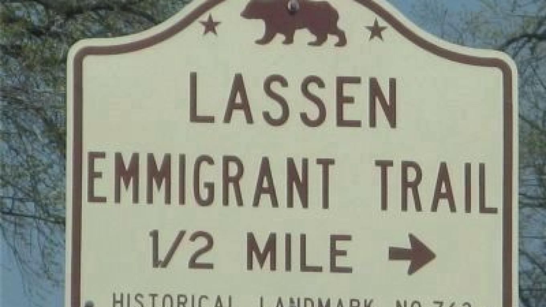 Lassen Emigrant Trail Marker