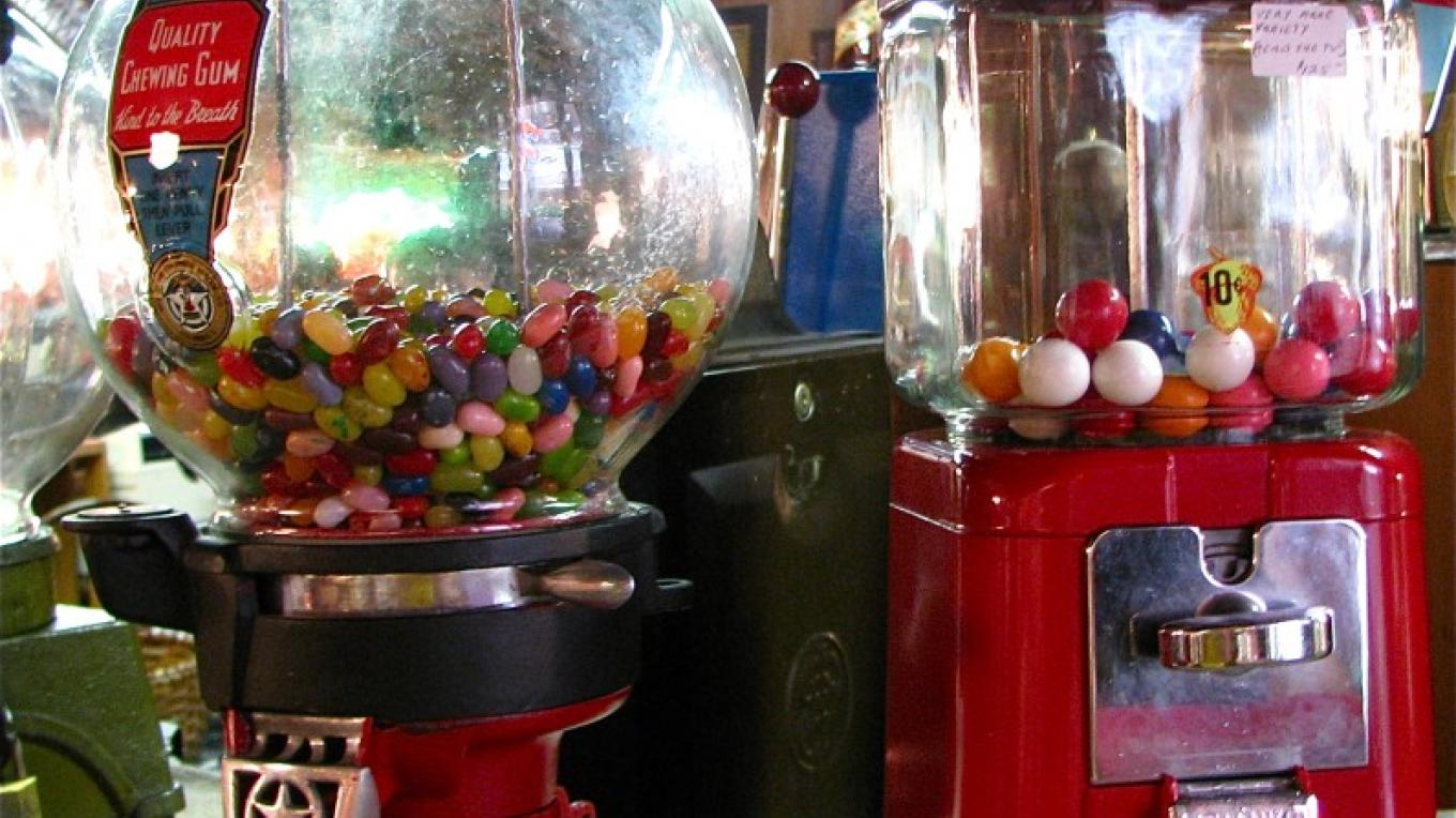 Beautifully restored gum ball machines delight everyone. – Karrie Lindsay