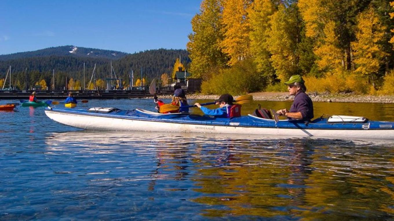 Paddle the Lake Tahoe Water Trail during the fall. Great colors and fewer crowds! – SueRae Irelan