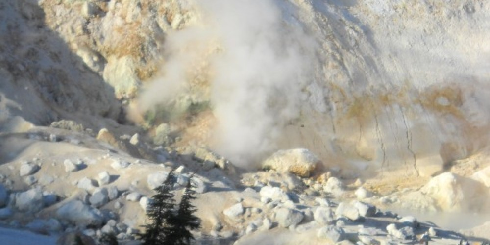 The smoking fumaroles within the Lassen Volcanic National Park. – by Suzanne Scull