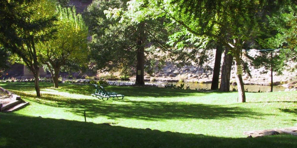 The Lure Resort grounds.  Great for hosting Weddings, Family Reunions, Corporate Events, etc. and also for just relaxing alongside the majestic North Yuba River. – Zolldan Family