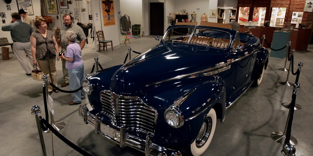 """Buick used in Autry film """"Trail to San Antone"""" From Rogers collection – Langley"""