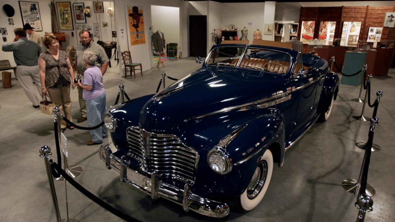 "Buick used in Autry film ""Trail to San Antone"" From Rogers collection – Langley"