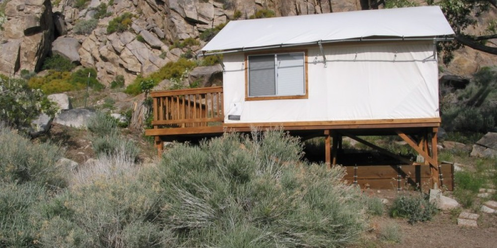 Airy tent cabins in the summer – Julie Fought