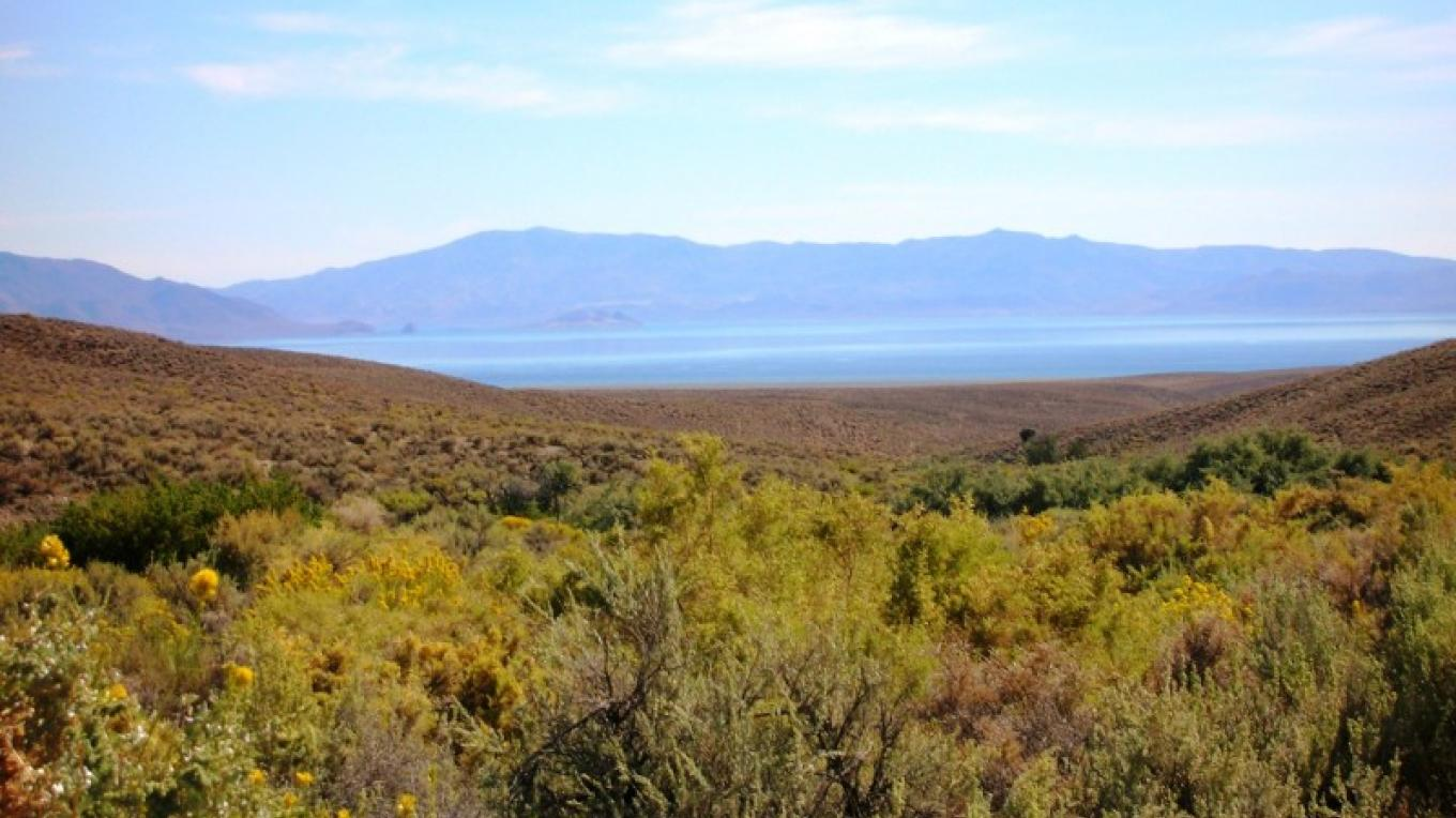 View of Pyramid Lake from Fox Canyon. – Scott H. Carey
