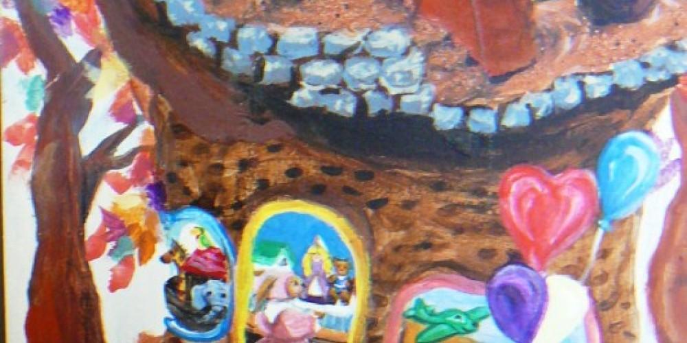 Mural children's area library – Susan Leeper