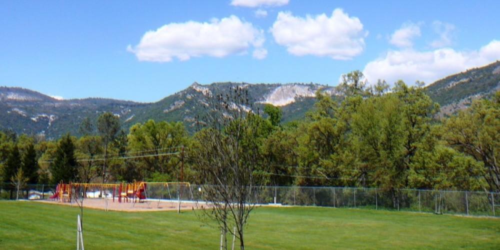 view of Tollhouse Rock from Sierra Elementary – Susan Leeper