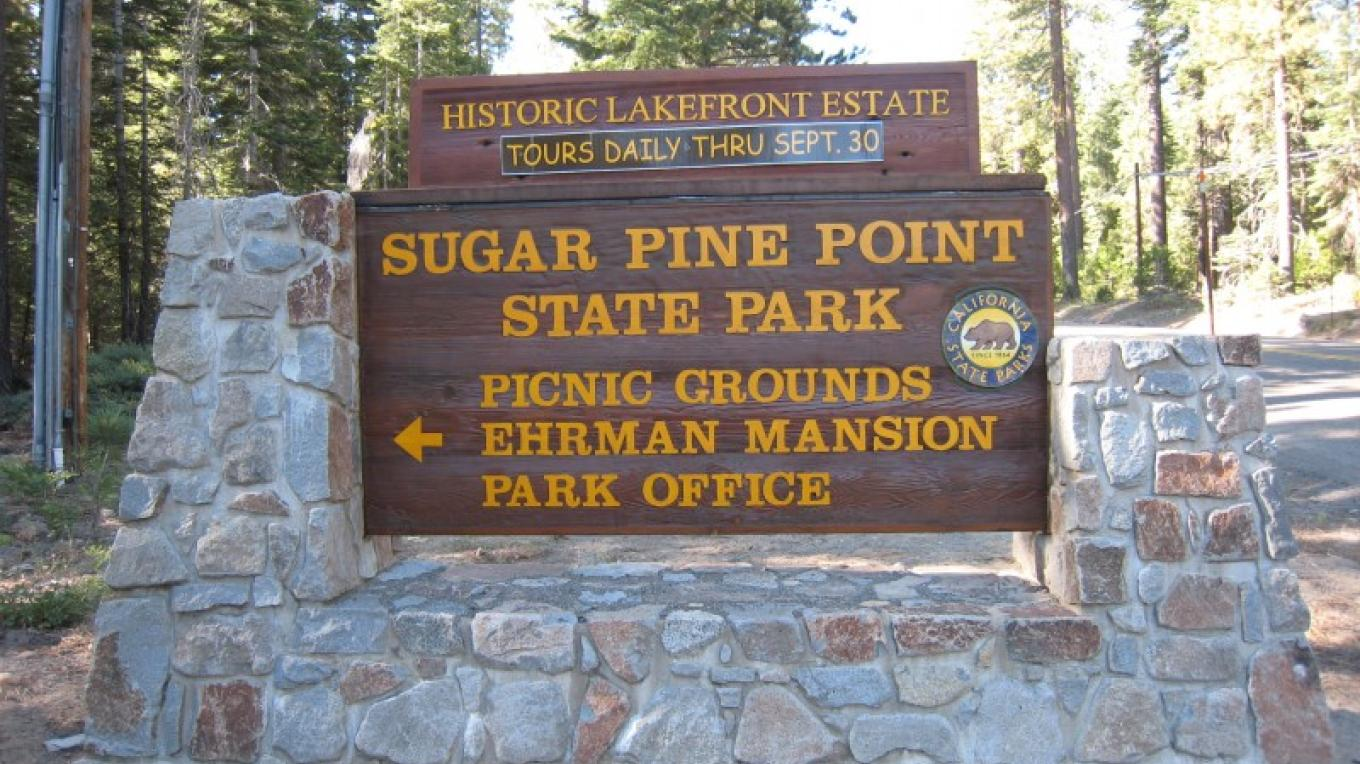 Park entrance sign – CA State Parks