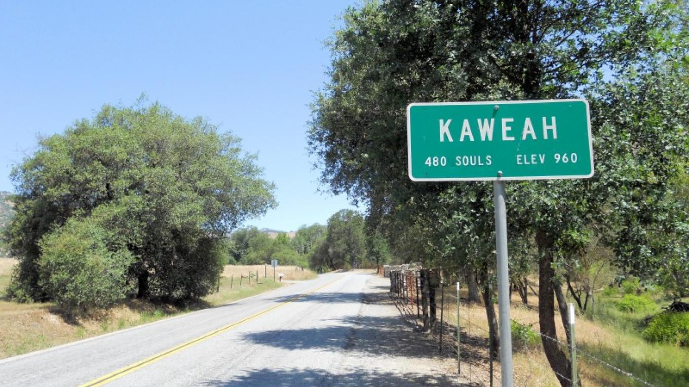 The entrance to the small community of Kaweah, California. – The Kaweah Commonwealth