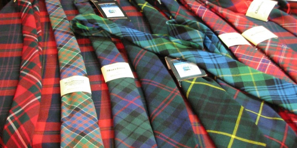 Neck tie let one sport their heritage without wearing a kilt. – Karrie Lindsay