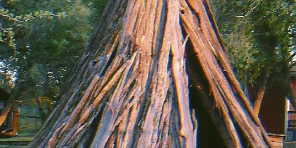 Mono cedar bark house most cedar bark structures found at higher elevations more elaborate willow houses found at Kings River located at museum – Susan Leeper