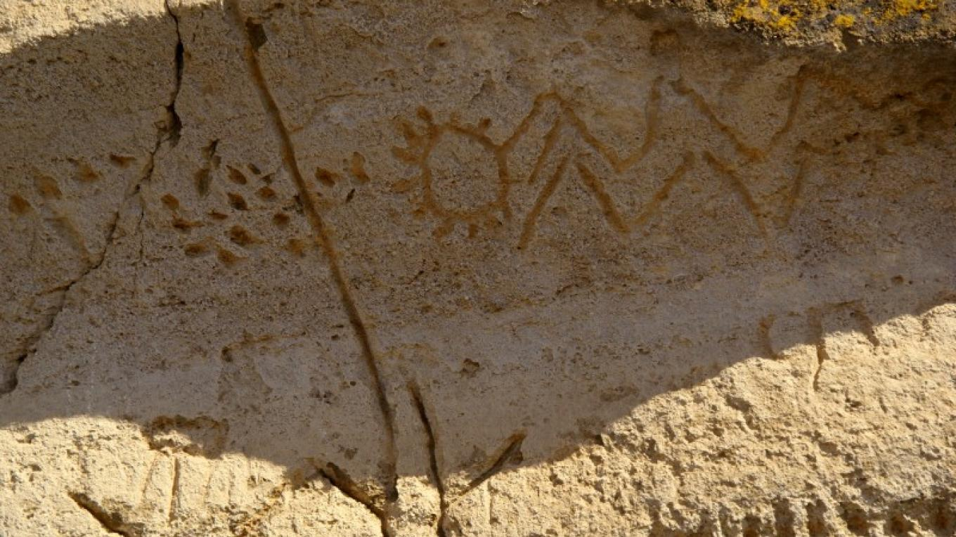 Petroglyphs at Petroglyph Point, Newell, Ca – Lorissa Soriano