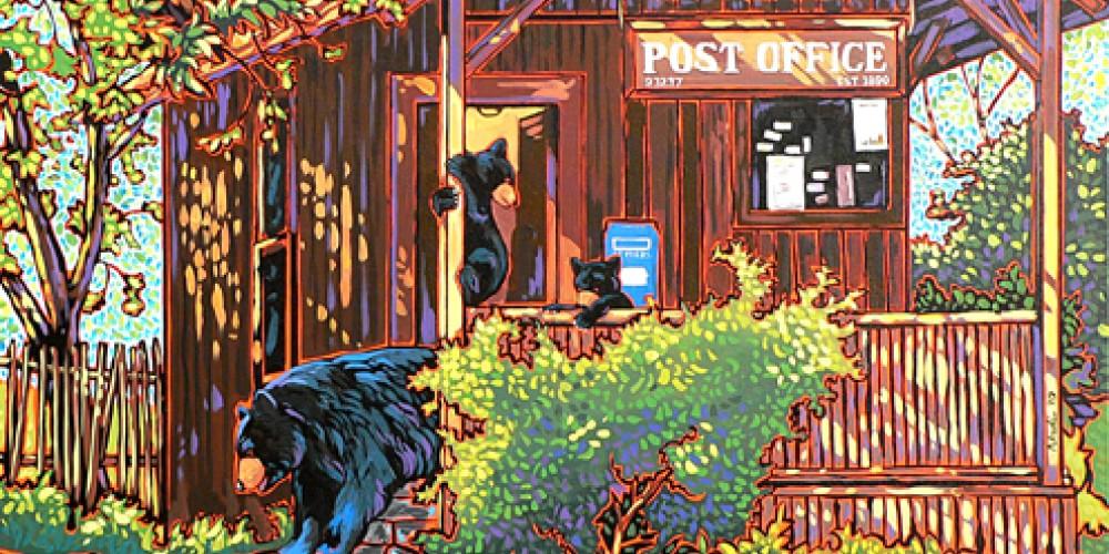 Kaweah Post Office acrlic painting – Nadi Spencer