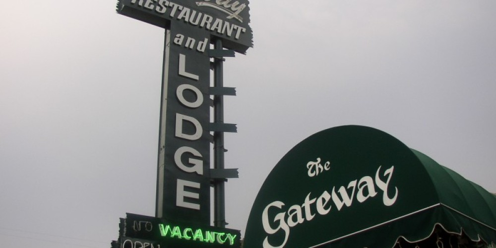 Historic Gateway Sign as seen from Highway 198. – Glenn McIntyre