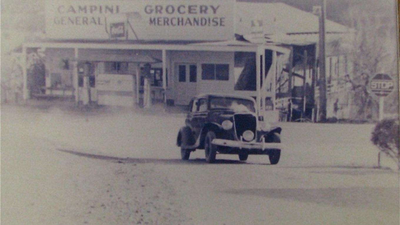 Part of her historic building was a service station and tire repair shop. – Karrie Lindsay