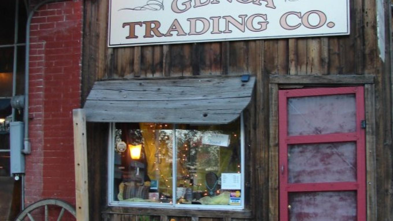 Genoa Trading Company located next to the Oldest Thirst Parlor