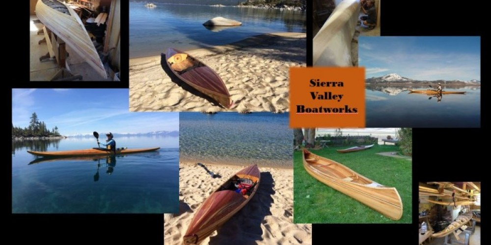Sierra Valley Boatworks makes hand-built cedar strip kayaks, canoes and rowing boats.