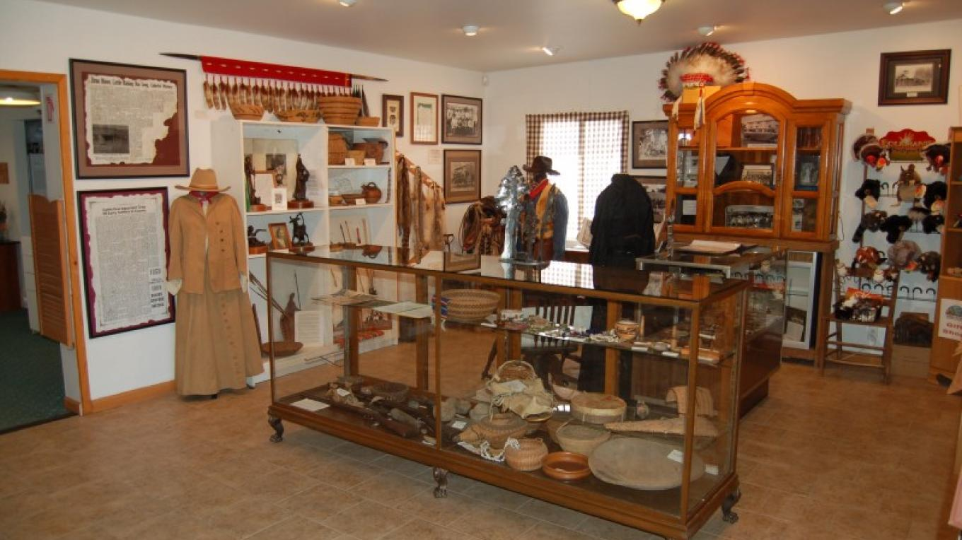 Native-American artifacts and first settlers area.  Three Rivers Museum – Tom Marshall