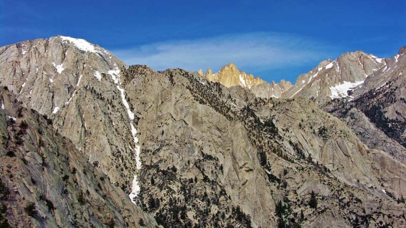 Mt. Whitney from the east. – NPS