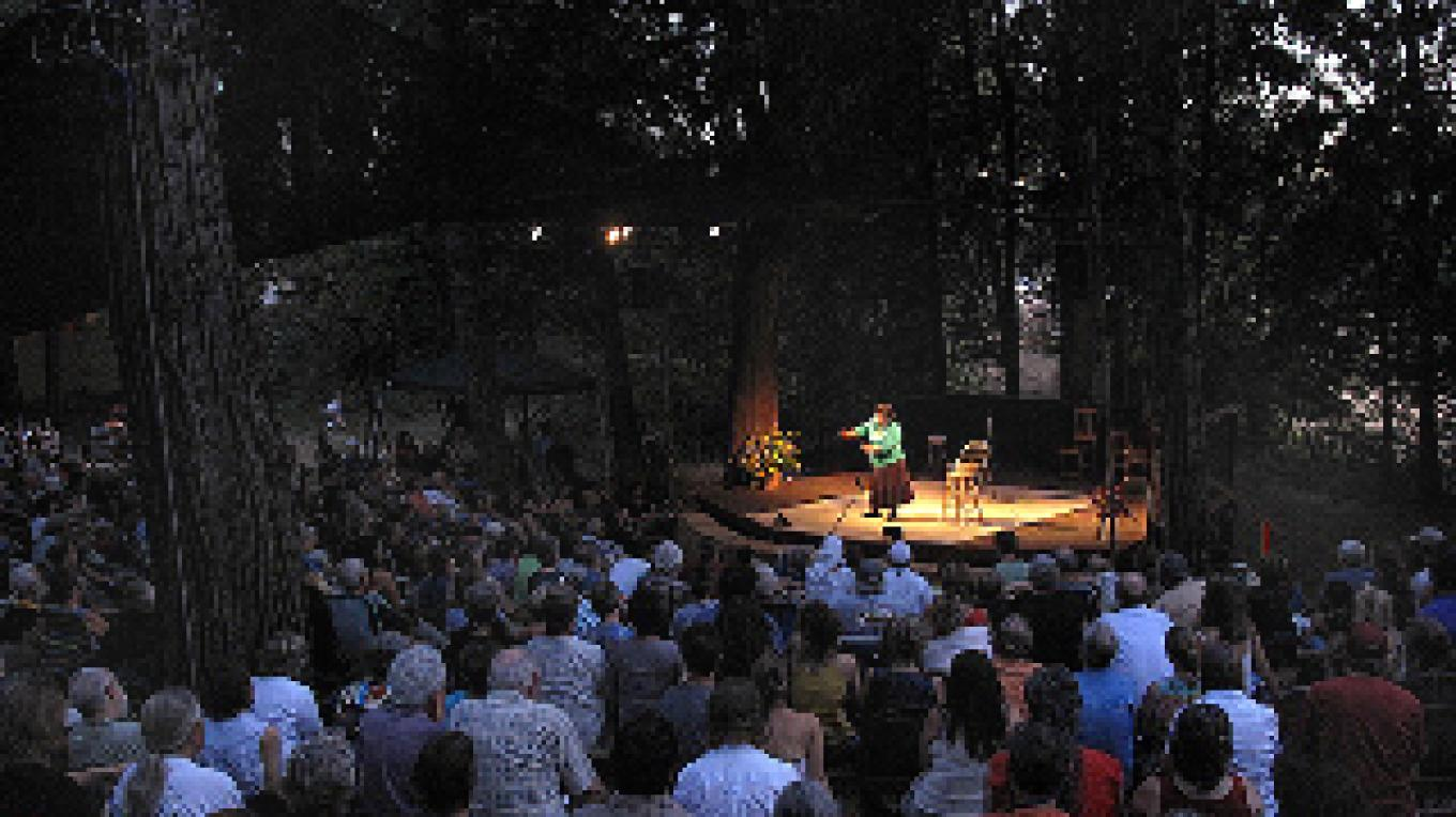 Evening storytelling concert in the only outdoor amphitheater built for storytelling.