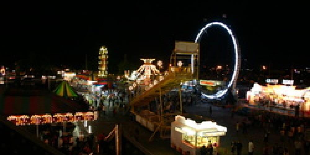 Plumas-Sierra County Fair at night